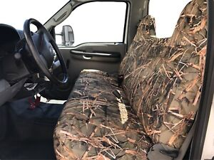 F23 MW Ford F-Series F150 Front Bench Muddy Water Camo High Back Seat Cover