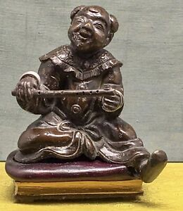 Chinese 17th C. Antique bronze sculpture Of Chang,