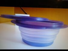 TUPPERWARE FLATOUT FLAT OUT CONTAINER BOWL 4 CUPS Purple