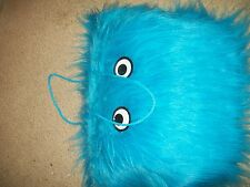 "FURRY BLUE MONSTER WITH EYES HALLOWEEN CANDY BAG 13 "" X 13"""