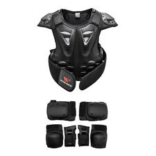 Dirt Bike Chest Protector Vest Kids Armor Vest Knee Wrist Elbow Protective Pads
