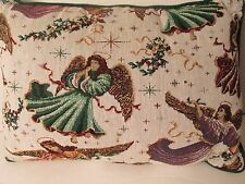 """Vintage embroidered pillow Christmas teem size 17"""" by 12"""""""