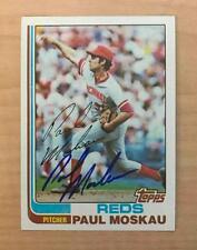 PAUL MOSKAU CINCINNATI REDS SIGNED AUTOGRAPHED 1982 TOPPS CARD #97 W/COA