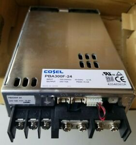 Cosel PBA300F-24 Power Supply, AC DC Converter,Output 24V-14A,85~264vac Output