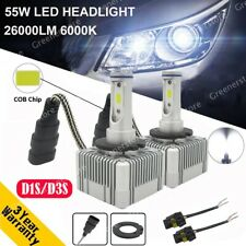 Pair D1S D3S 55W 26000LM Car CREE LED Conversion Headlight Lamps KIT 6000K White