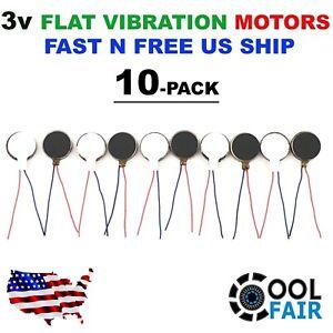 3v DC 12mm x 3mm Flat Vibration Motor Coin Pancake Button Bristlebot 10 Pcs