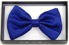 New Tuxedo PreTied Royal Blue Bow Tie Satin Adjustable Band  US SELLER