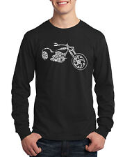 Motorcycle Typography Men's Long Sleeve T-Shirt Biker Club Apparel