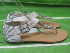 NEW LADIES Summer IVORY Rhinestone Womens Shoes Sexy Elastic Sandals Size  7