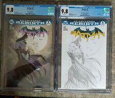 Batman 1 Turner Aspen Color & Sketch Variant Set CGC 9.8 DC Rebirth