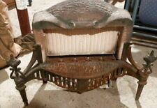 Antique 1920s - 1930s Adams Cheerful Radiant Heater Parlor Fireplace Insert