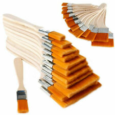 12x Oil Painting Brushes Wooden Artist Acrylic Panit Art Limne Supply N C3H Y3B1