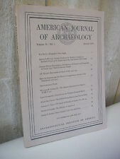 AMERICAN JOURNAL of ARCHAEOLOGY 1975 N°1