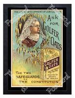 Historic Golfer Oats, John Hunter & Son, Edinburgh, 1897 Advertising Postcard