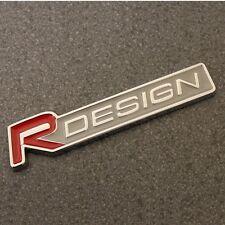 R Design Badge Emblema Decalcomania Adesivo del logo posteriore avvio tronco ala laterale auto rosso 111r