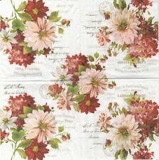 Lot de 2 Serviettes en papier Bouquets de Fleurs Decoupage Collage Decopatch