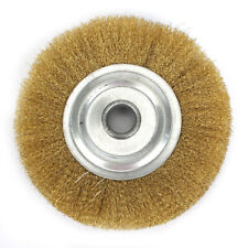 5 Inch Copper Wire Wheel Pure Brass Brush For Bench Grinder Yellow Replacement
