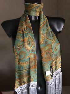 Roberto Cavalli sciarpa stola foulard in seta, nuova