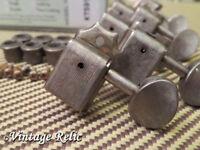 aged Kluson SUPREME 18:1 nickel tuners RELIC'D fit Fender Strat Tele KTS9105MN
