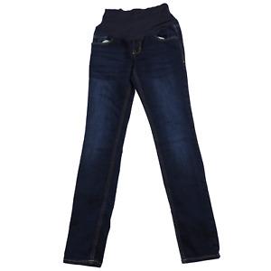 Old Navy Maternity Blue Denim Full Panel Skinny Jeans Women's Size 4R