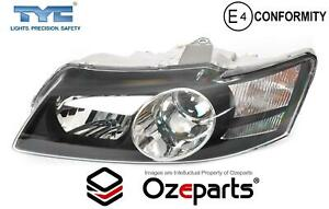 LH Left Head Light Projector Black For Holden Commodore VY Calais HSV 2002~2004