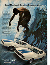 1972 FORD MUSTANG / SPRINT DECOR OPTION   ~  ORIGINAL PRINT AD