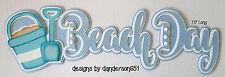 Beach Summer Die Cuts Paper Piecing PreMade Border Scrapbook Album danderson651