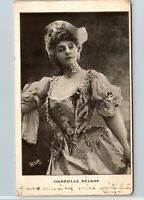 Vintage 1905 RPPC Young French Actress, Gabrielle Rejane, Real Photo Postcard