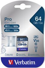 Verbatim SDXC Karte Pro     64GB Class 10 UHS-I NEU