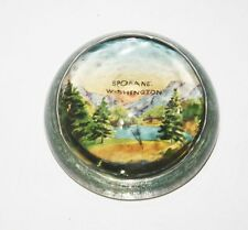 Vintage Souvenir Paperweight Spokane Washington