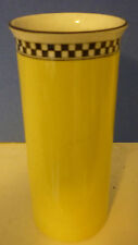 Yellow with Black & White Checks Cannister