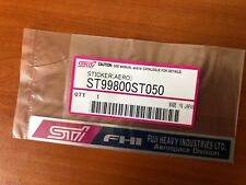 Subaru WRX STI (GC8) Strut Bar Sticker (Genuine New)