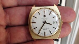 Vintage Original Favre-Leuba Geneve Chronometer Date 36000 Mens Wrist Watch
