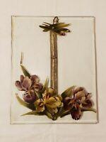 RARE Antique Art Nouveau Art Deco Handpainted Glass Picture Frame -  FINAL LIST
