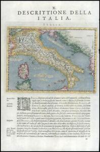 1597/8 Antique Map ITALY DESCRITTIONE DELLA ITALIA Corsica Sardinia Magini (G21)