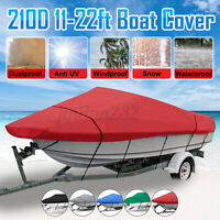 Waterproof Boat Cover Trailerable Heavy Duty V-Hull Fishing Ski Bass