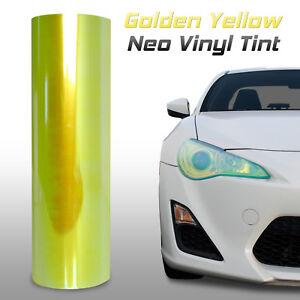 "12""x48"" Chameleon Neo Yellow Headlight Fog Light Taillight Vinyl Tint Film (m)"