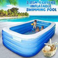 4 capa Inflable piscina Lounge Familia Niño Adulto agua jugar divertidos Patio Trasero