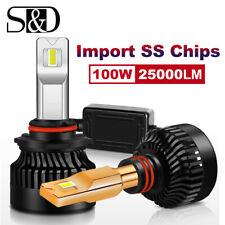 2x Mini 9012 HIR2 LED Headlight Kit Bulb High Low Beam 100W 25000LM 6000K Canbus