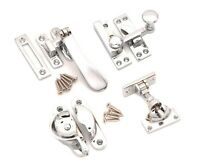 VICTORIAN VINTAGE OLD ENGLISH STYLE WINDOW SASH FITTING FASTENER -  CHROME