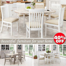 Solid Wood Up to 6 Contemporary Table & Chair Sets