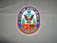 Uss New Jersey Crewmember patch crest