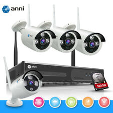 Wireless 4CH 720P NVR Outdoor WIFI IP Network Camera CCTV Security System 500GB