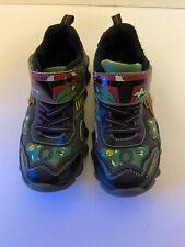 New listing Skechers Boba Fett (Star Wars) Kids Size 1.5 Black/Green Walking Shoes