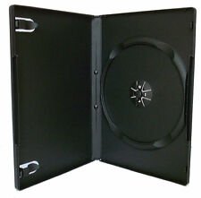 25 X único Dvd Funda casos 14mm De Lomo negro estándar Transparente Tapa Delantera en la manga