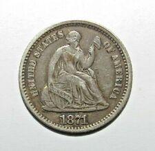 HALF DIME 1871 SEE CONDITION !  - USA