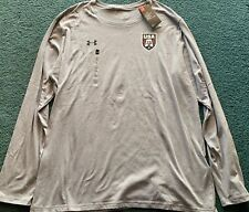 Nwt Mens 2Xl Under Armour Gray/Red/Navy Usa Eagle L/S Shirt Xxl