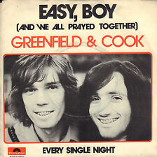 "GREENFIELD & COOK ‎– Easy, Boy (1973 NEDERPOP VINYL SINGLE 7"")"