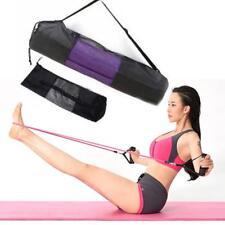 Convenience Black Portable Yoga Mat Bag Nylon Pilates Exercise Carrier Mesh