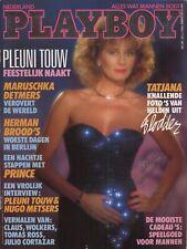Dutch Playboy Magazine 1986-12 Laurie Carr, Tatjana Simic, Pleuni Touw ...